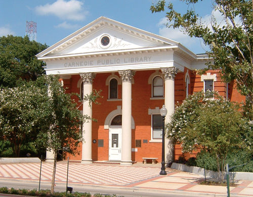 Photo of the Carnegie Library in Bryan Texas