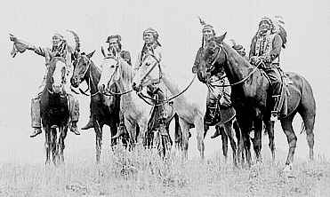 Photo of band of early-day Comanches