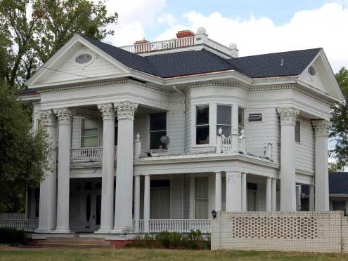 Photo of Onah Ward Astin home in historic Bryan Texas