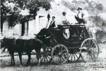 stagecoach that made a stop at the Bryson place in early day Liberty Hill