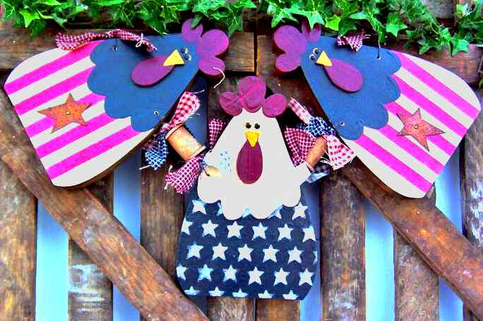 Photo of Chicken Crafts from Country Crafts and Antiques