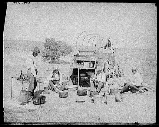 Photo of early-day Chuckwagon