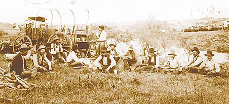 Photo of the early-day chuckwagon