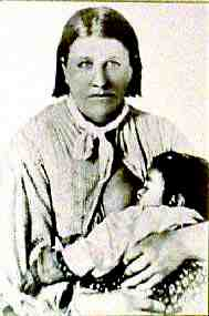Photo of Cynthia Ann Parker and her Daughter, Topsannah