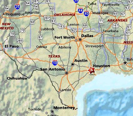 Map of Houston texas