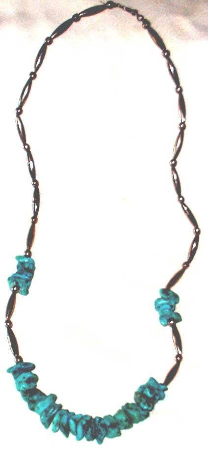 Pueblo Native American Indian Turquoise and Silver Necklace