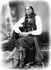 Photo of Quanah Parker who Became Chief of the Quahadis (