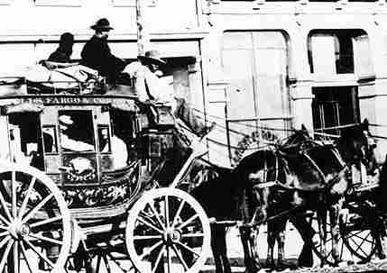 photo of the wells fargo stage coach